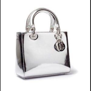 Handbags - Lady Dior Chrome strap top handle charm bag